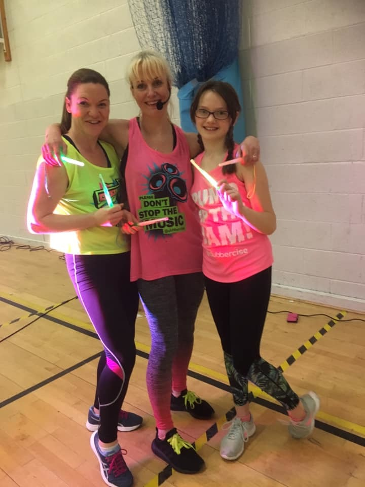 Family Clubbercise Mum & Daughter with our TEAMASV Instructor Lisa V!